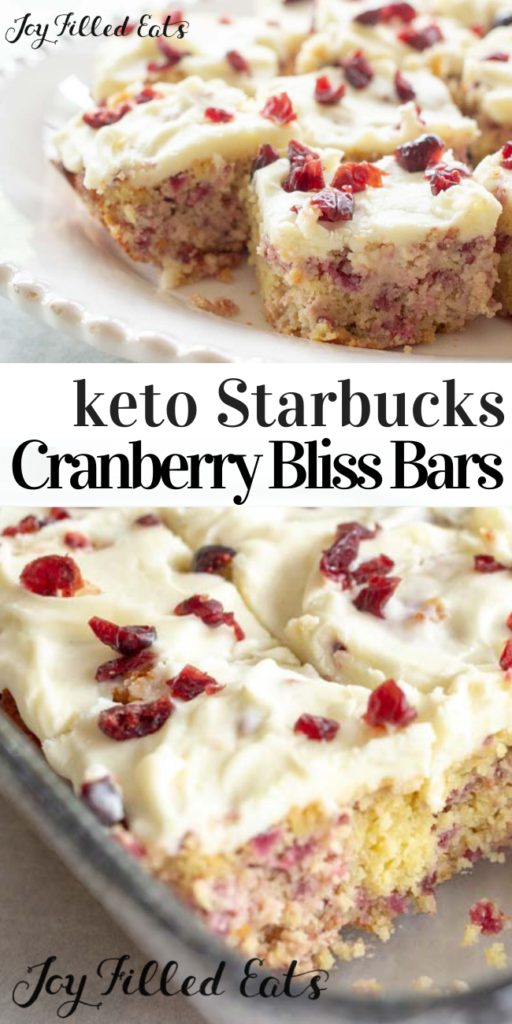 pinterest image for cranberry bliss bars