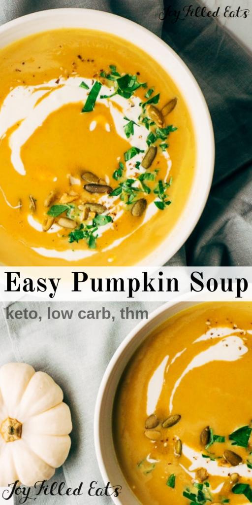 pinterest image for easy pumpkin soup