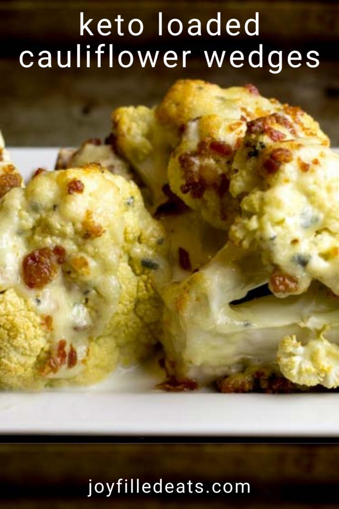 pinterest image for cauliflower wedges