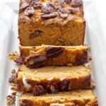 pinterest image for keto pumpkin bread