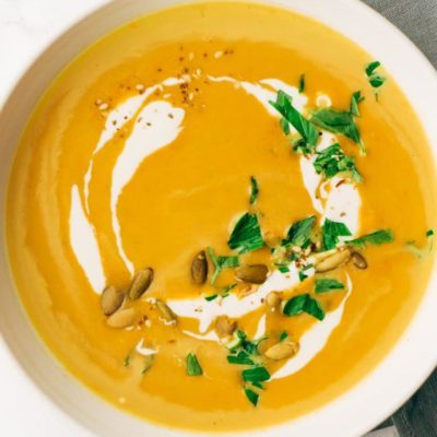 Keto pumpkin soup
