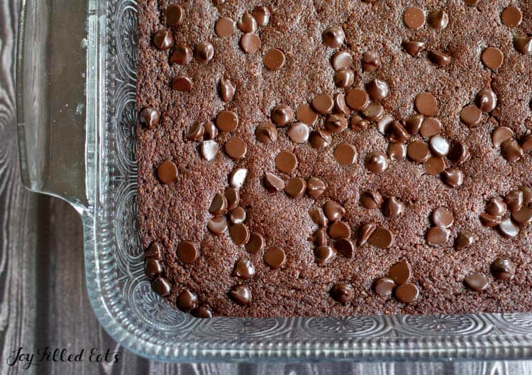 the baked keto brownies