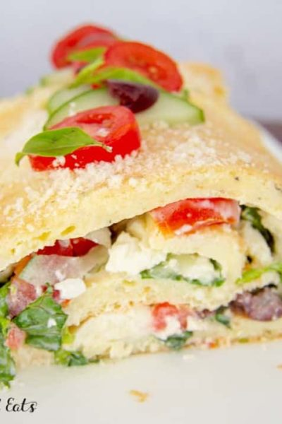 Roulade with Greek Salad Recipe Low Carb Keto THM S
