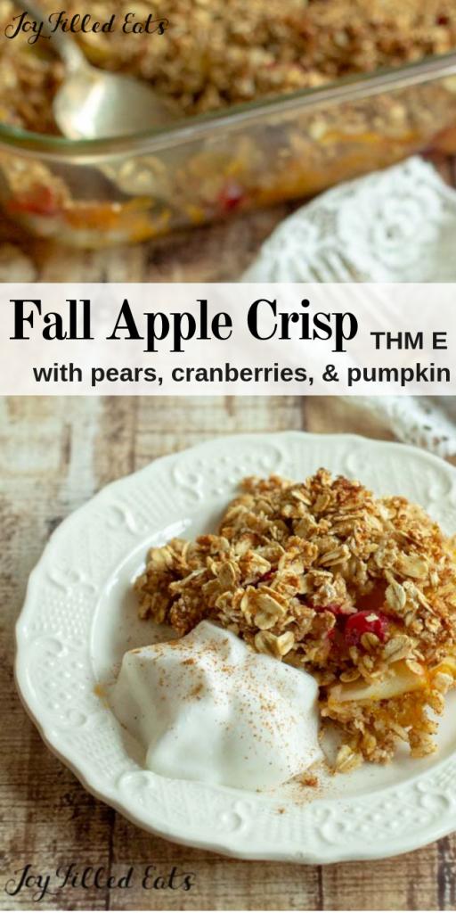 pinterest image for fall apple crisp