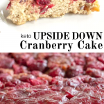 pinterest image for keto upside down cranberry cake