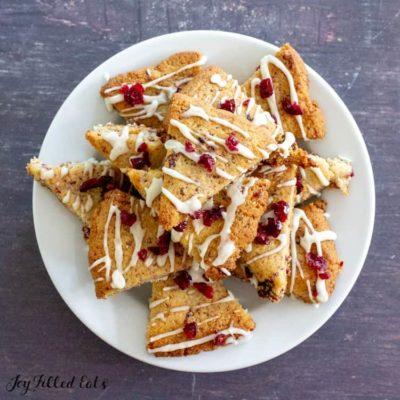 Lemon Drizzle Cranberry Cookies