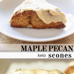 pinterest image for keto maple pecan scones