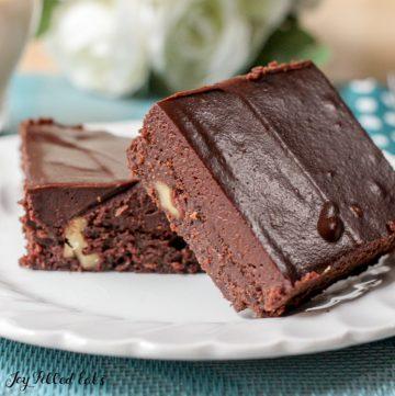 homemade little debbie fudge brownies on a plate