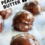 pinterest image for peanut butter balls