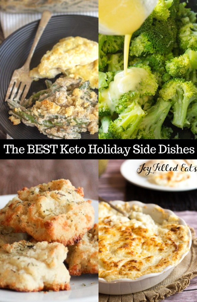 pinterest image for the best keto healthy holiday side dishes