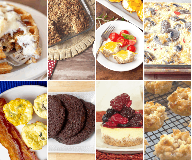 collage of pictures of breakfast food