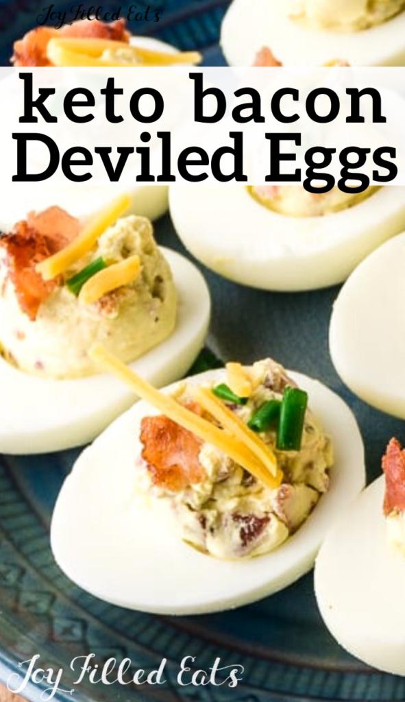 pinterest image for keto deviled eggs