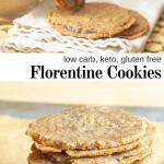 pinterest image for keto florentine cookies