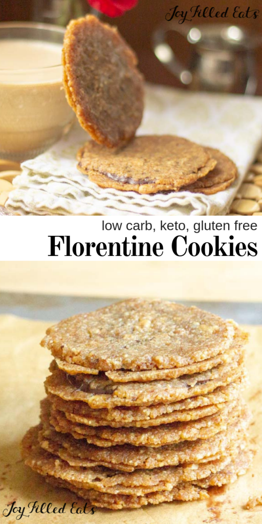 pinterest image for keto florentine cookies