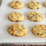 eggless cookies on a parchment lined baking sheet