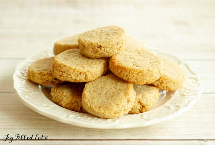 a plate of ginger molasses cookies