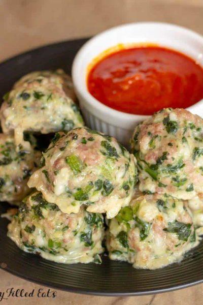 Keto Sausage Balls Low Carb Gluten-Free THM S