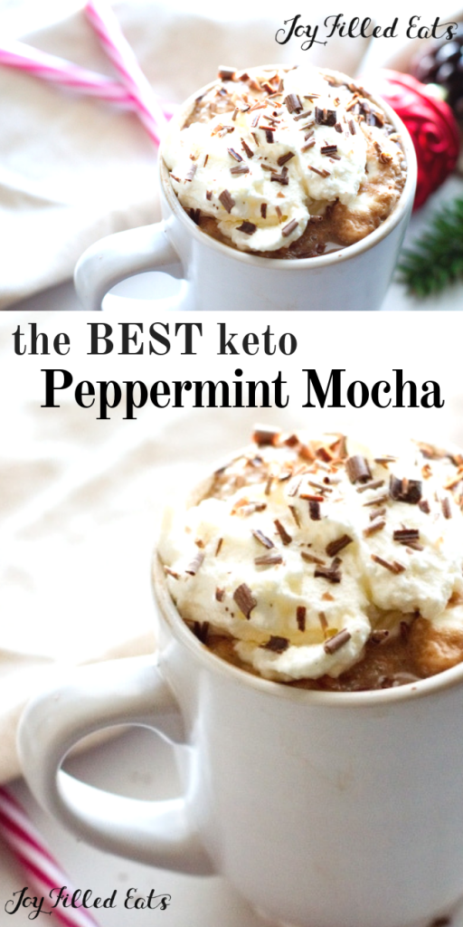 pinterest image for keto peppermint mocha