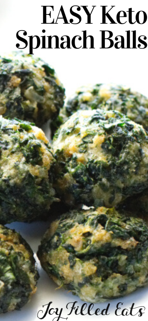 pinterest image for keto spinach balls