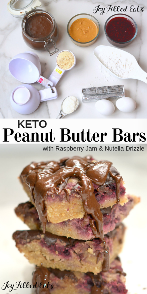 pinterest image for keto peanut butter bars