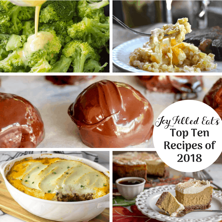 pinterest image for Joy Filled Eats top 10 recipes of 2018