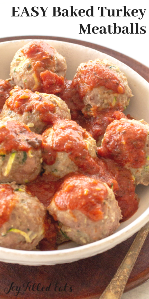 pinterest image for keto turkey meatballs