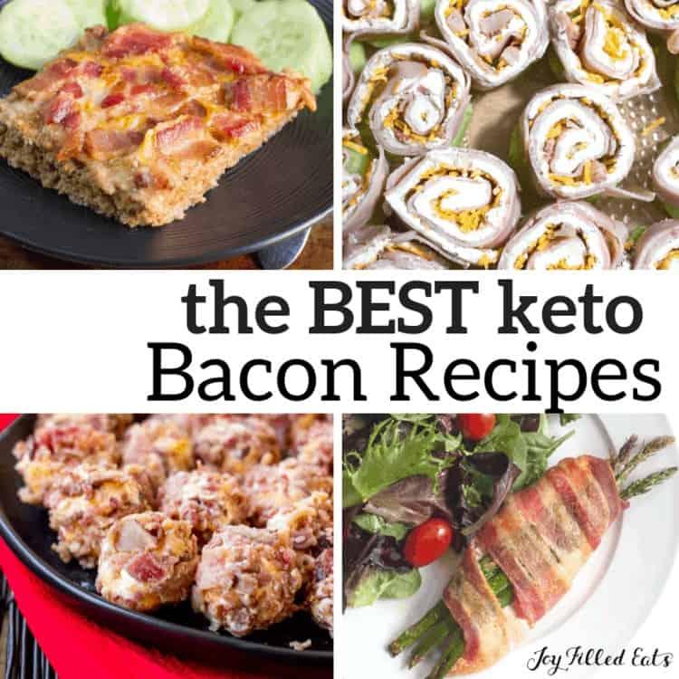 pinterest image for keto bacon recipes
