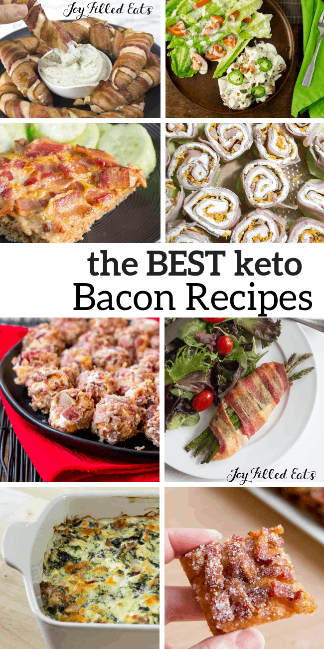 collage of photos of the best Keto Bacon Recipes