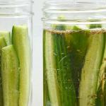 pinterest image for 5 ingredient refrigerator pickles