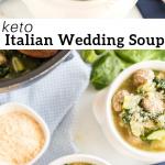 pinterest image for Italian Wedding Soup