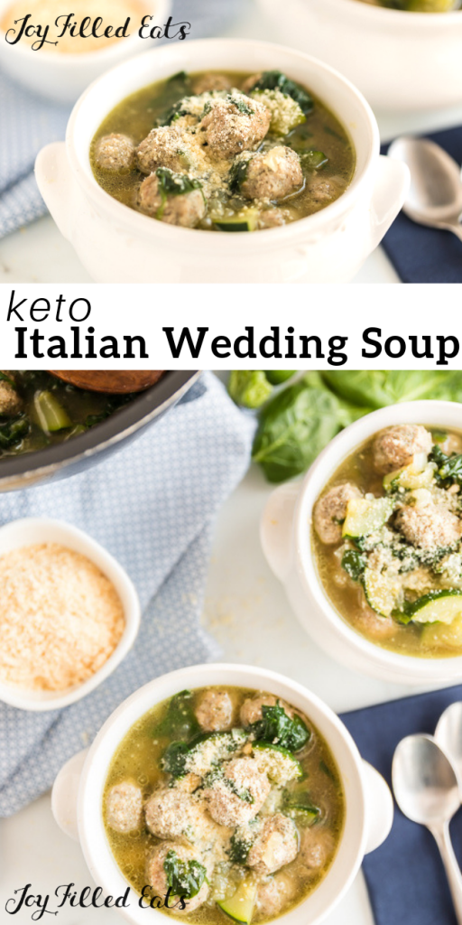 pinterest image for Italian Wedding Soup
