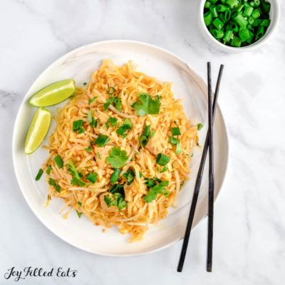 Keto Chicken Pad Thai Gluten Free Low Carb THM S