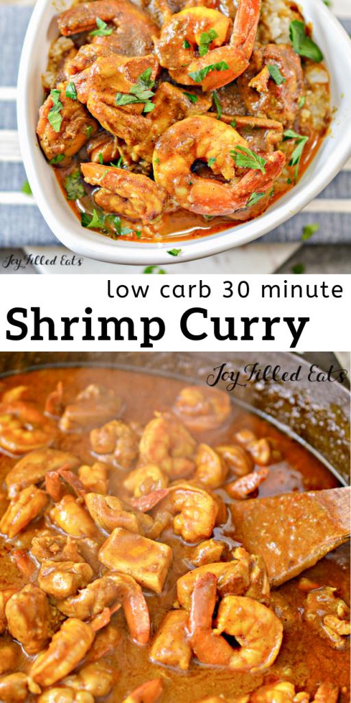 pinterest image for shrimp curry