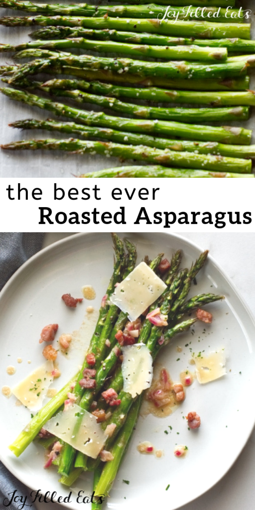 pinterest image for oven roasted asparagus