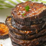 pinterest image for oven roasted eggplant
