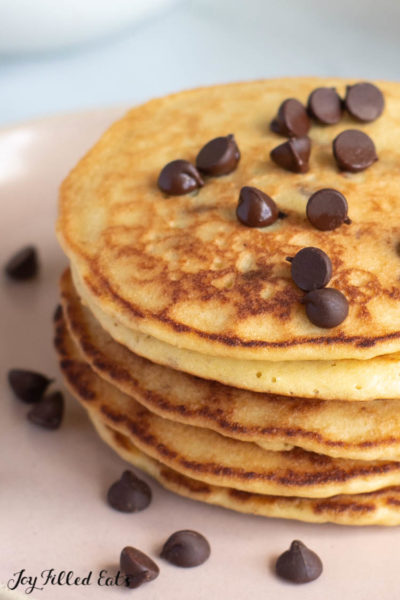 Almond Flour Pancakes with Chocolate Chips