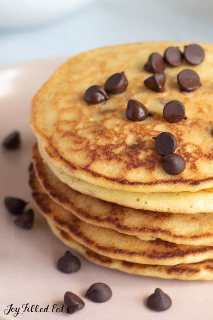 Keto Almond Flour Pancakes With Chocolate Chips Low Carb Gluten Free