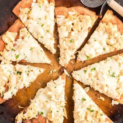 Chicken Alfredo Pizza Low Carb Keto Gluten-Free Easy