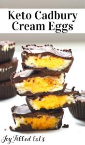 pinterest image for cadbury cream eggs