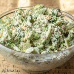 broccoli salad in bowl close up