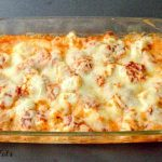 keto chicken pizza casserole from above