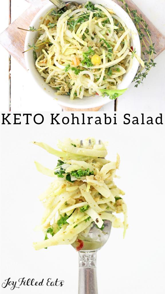 pinterest image for kohlrabi salad