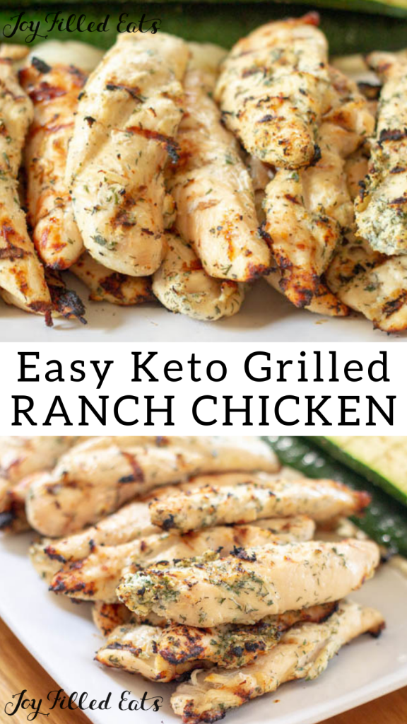 pinterest image for 5 ingredient ranch grilled chicken