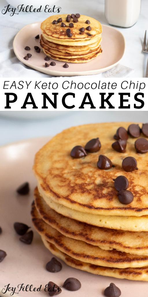 pinterest image for keto almond flour pancakes