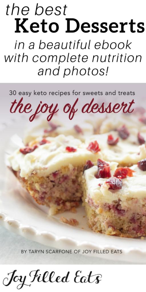 pinterest image for the best keto desserts cookbook