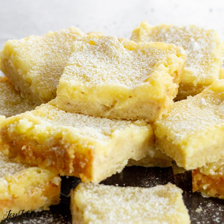 pile of keto lemon bars