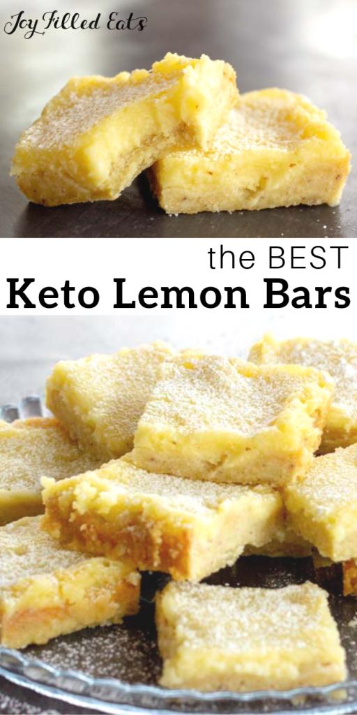 pinterest image for keto lemon bars