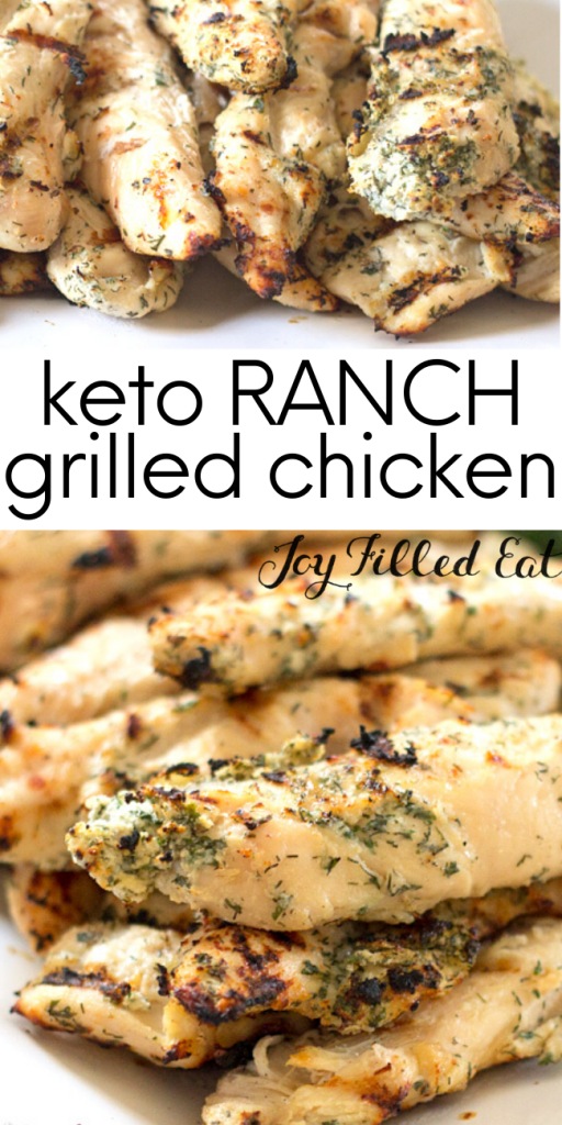 pinterest image for ranch grilled chicken