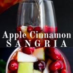pinterest image for apple cinnamon sangria
