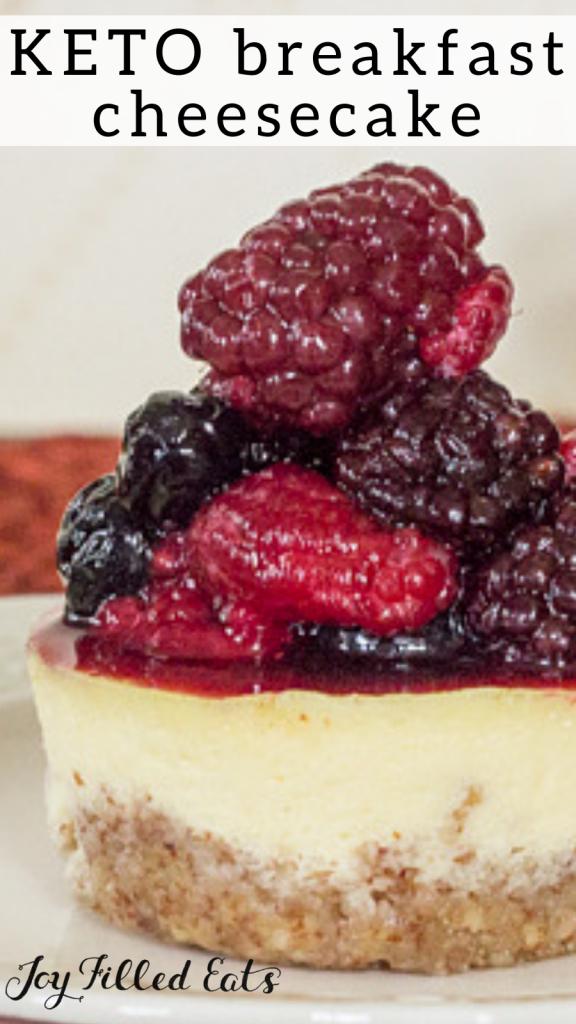 pinterest image for keto breakfast cheesecake